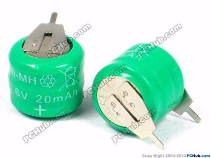 Ni-MH. 10.5x11.5mm (HxDia.)