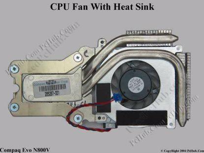 285267-001 HP Compaq Evo N800C N800V Series CPU Cooling Fan With Heatsink