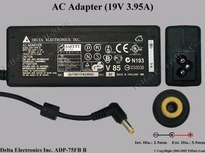 ADP-75FB B, Acer P/N: AP.A0305.001, APA0305001