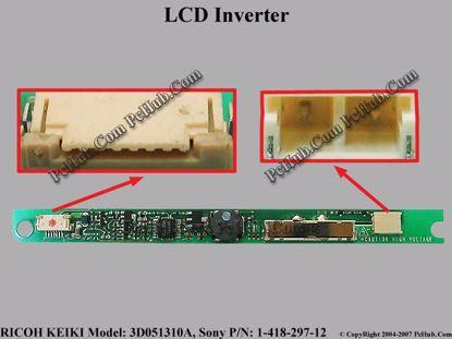 3D051310A, 3D05-1, Sony P/N: 1-418-297-12