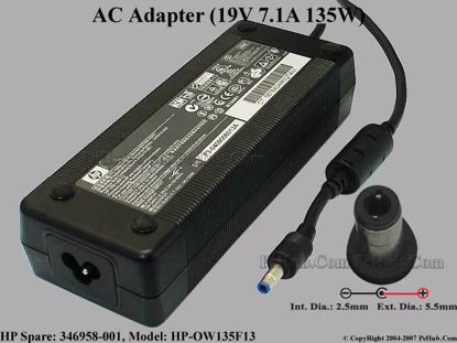 HP SPARE: 346958-001 , 361072-001, HP-OW135F13