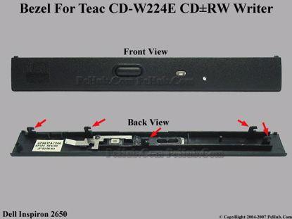 Picture of Dell Inspiron 2650 CD-RW - Bezel CD-W224E