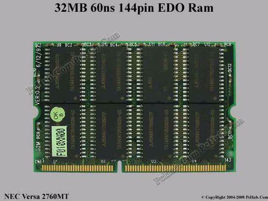 Picture of NEC Versa 2760MT Laptop EDO RAM 32MB