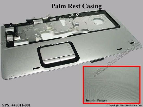 HP Pavilion dv9000 palm rest with touch pad