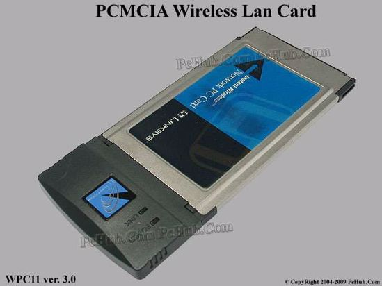 PCMCIA Wireless Network Card 802.11b 11Mbps Data Transfer Rate