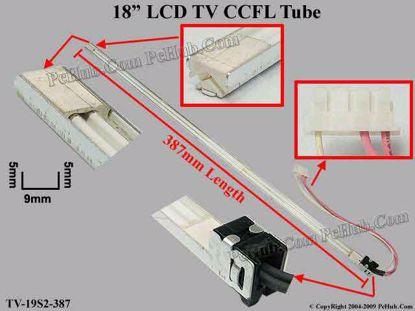 Length: 387mm, Side Height: 5/5mm, TV-19S2-387