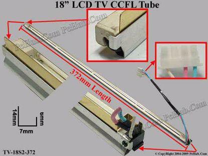 Length: 372mm, Side Height: 14/6mm, TV-18S2-372