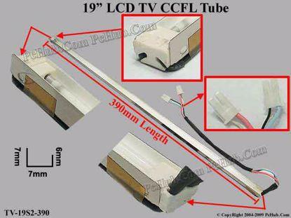 Length: 390x7mm, Side High: 7/6mm, TV-19S2-390-UP