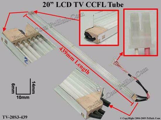 Length: 439x9mm, Side Heigh: 14/6mm, TV-20S3-439-U