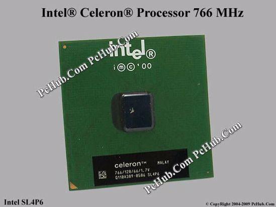 Intel Celeron 766 MHz CPU Processor SL4P6