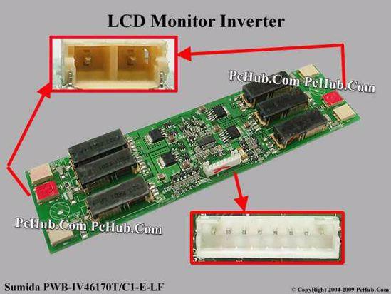 Sumida PWB-IV46170T/C1-E-LF LCD Monitor / TV Inverter IV46170/T-LF