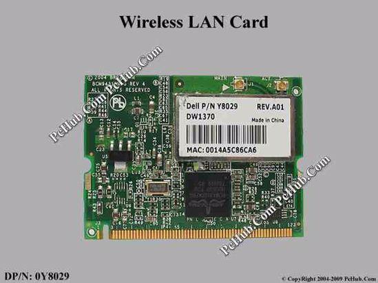 DP/N: 0Y8029 , Y8029 , BCM94318MPG