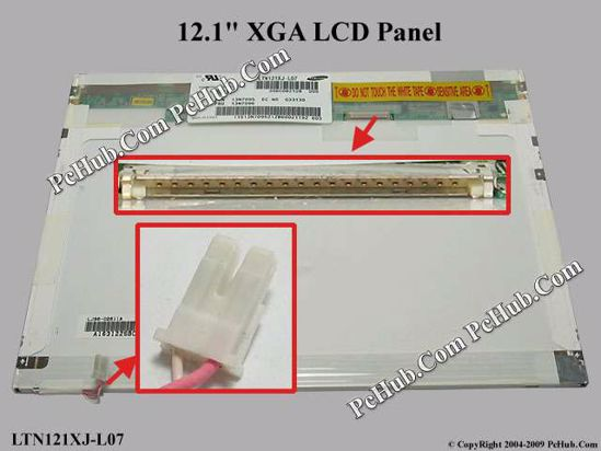 LTN121XJ-L07, FRU: 13N7096, P/N: 13N7095