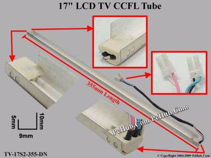 Length: 355mm, Side Height: 10/5mm, TV-17S2-355-DN