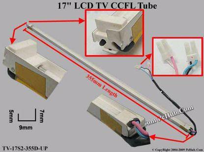 Length: 355x9mm, Side High: 7/5mm, TV-17S2-355D-UP