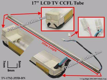 Length: 355x9mm, Side High: 7/5mm, TV-17S2-355D-DN