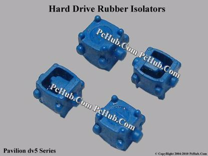 Picture of HP Pavilion dv5 Series Various Item HDD Rubber Isolators X 4, Blue