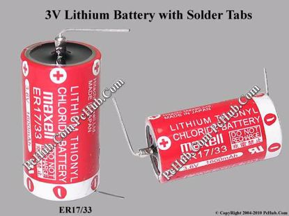 ER17/33, Lithium Thionyl Chloride Battery