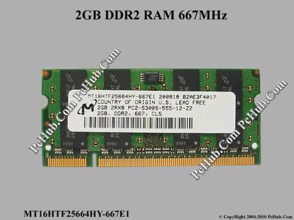 MT16HTF25664HY-667E1, HYMP125S64CP8-YE