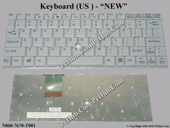Fujitsu LifeBook P1000 Keyboard CP068929-01, US,