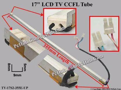 Length: 355x9mm, Side Height: 9/5mm, TV-17S2-355E-
