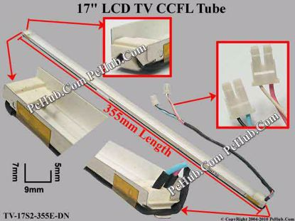 Length: 355x9mm, Side Height: 7/5mm, TV-17S2-355E-