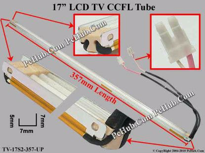 Length: 357x7mm, Height: 7/5mm, TV-17S2-357-UP