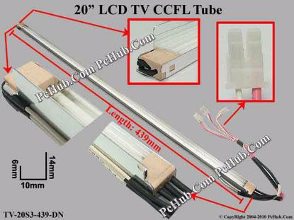 Length: 439x10mm,Side Height: 14/6mm, TV-20S3-439-