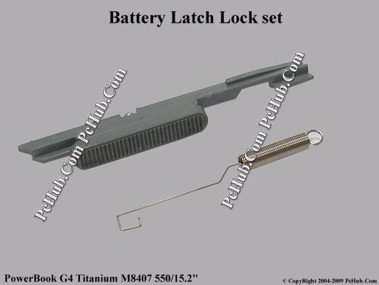 "Picture of Apple PowerBook G4 Titanium M8407 550/15.2"" Various Item Battery Latch"