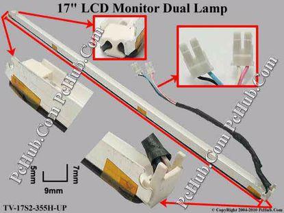 Length: 355x9mm, Side High: 7/5mm, TV-17S2-355H-UP