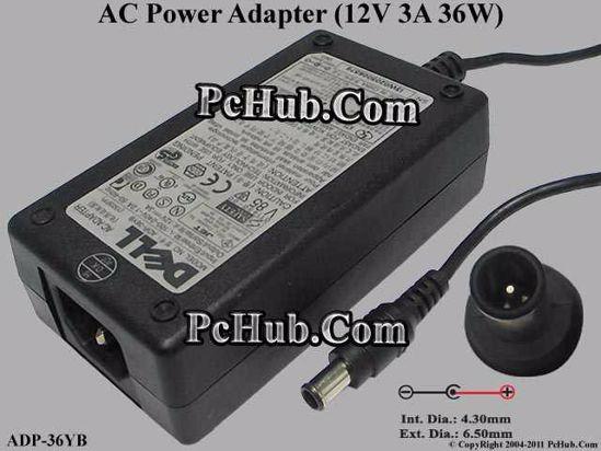 ADP-36YB, 12V 3A , Tip-E, (IEC C14)