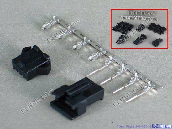 67676- SM 2.54mm. 2513-HP. Black color