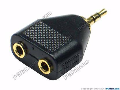 69870- JR 1910, Stereo. Black. Gold Tone Plug