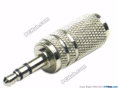 69875- TRS Stereo. Silver Plug. Alloy Handle
