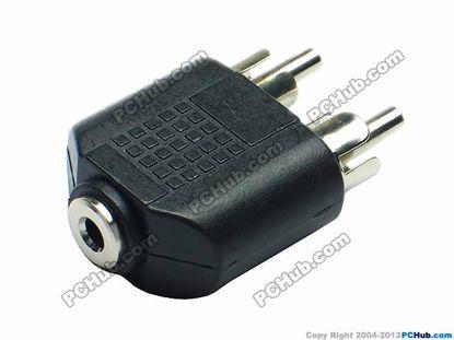 69898- Black / Silver Tone Plug