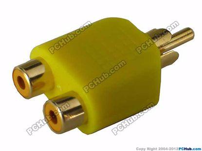 69904- Yellow / Gold Tone Plug