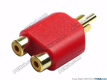 69906- Red / Gold Tone Plug