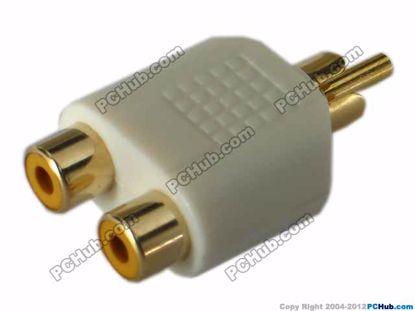 69907- White / Gold Tone Plug