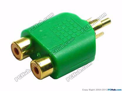 69908- Green / Gold Tone Plug