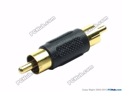 69914- Black / Gold Tone Plug