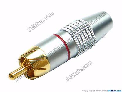 69935- 0838A. Red Belt Alloy Handle. Gold Tone Plu