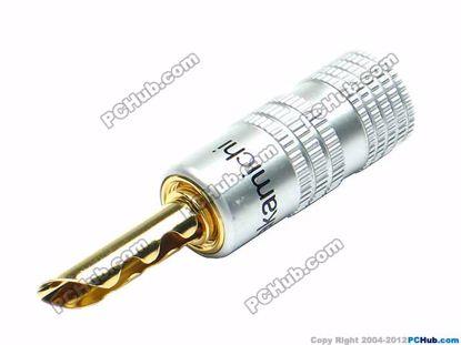 70020- 0534E. Screw Bracket. Black. Belt. Gold Pla