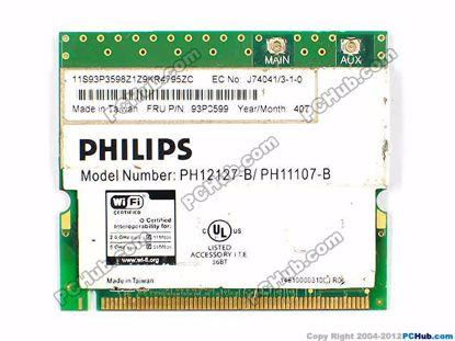 FRU P/N: 93P3599, PH12127-B / PH11107-B