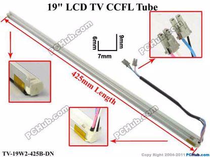 Length: 425x7mm, Side High: 9/6mm, TV-19W2-425B-DN