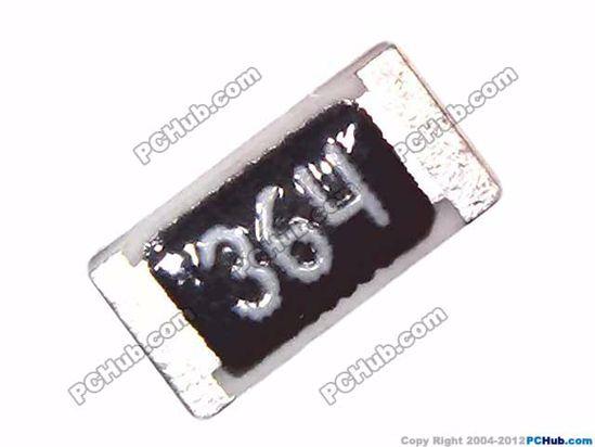 50 x SMD Resistor Widerstand 3K65 3,65KOhm 1/% 0,25W 1206