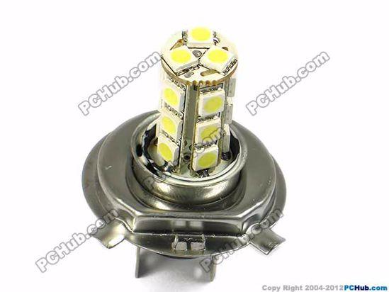 75000- H4. 18x5050 SMD White LED Bulbs
