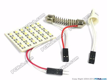 75084- T10 / Festoon. 24x3020 SMD White LED Light