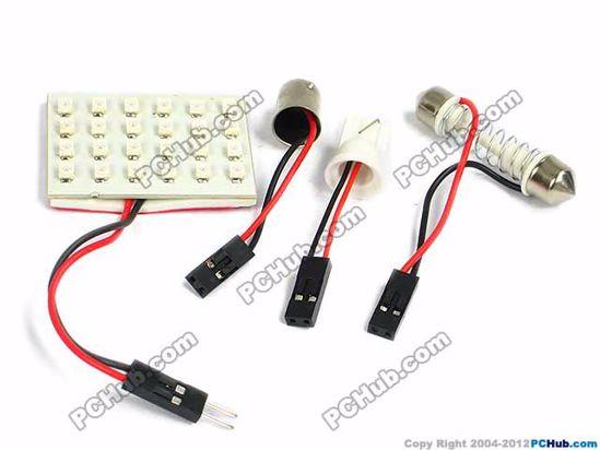 - T10 / BA9S / Festoon. 9x1210 SMD Red LED Light