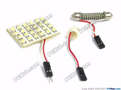 75090- T10 / Festoon. 24x3020 SMD White LED Light