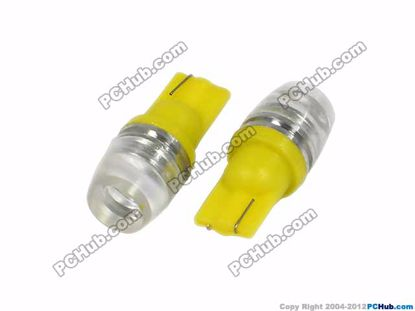 75729-T10. Wedge, 1W Yellow LED